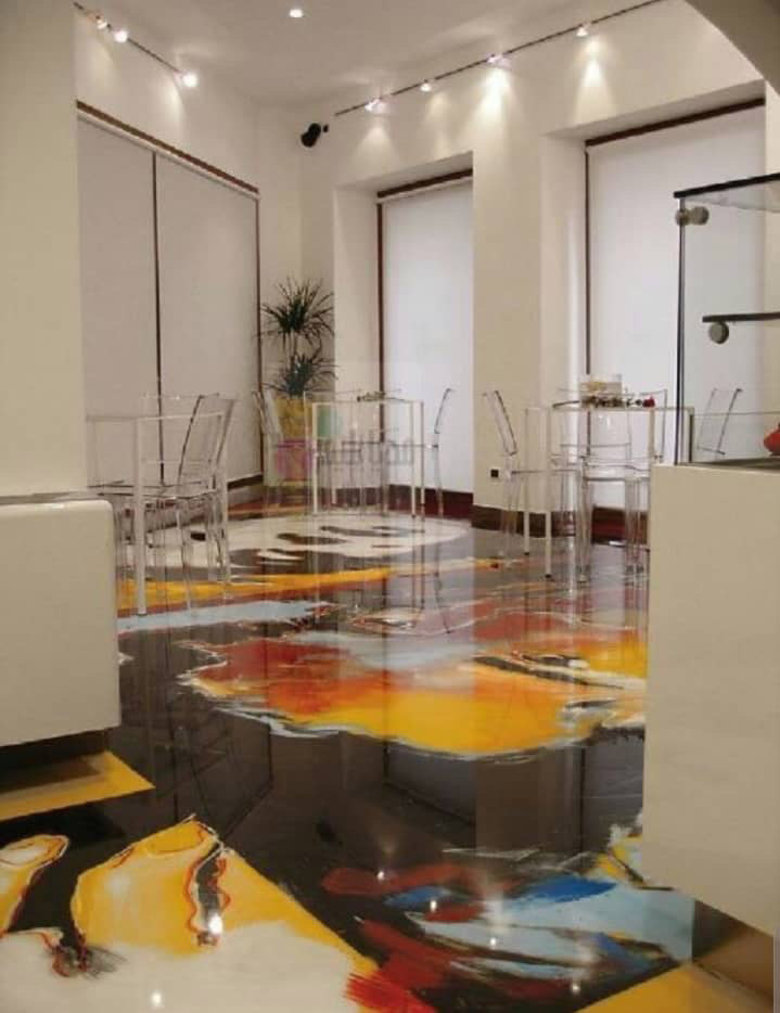 Epoxy Flooring Pattern Photo